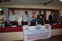 "Savitribai Phule Pune University Sponsored Two Days State Level Seminar organized at RMDIPER  on the topic  ""Industrial Innovations & Transitions in Advanced Drug Delievary System"" dated on 8th and 9th Feb 2019"
